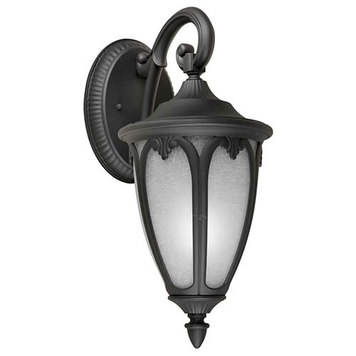 Forte Lighting Black One-Light 17.75-Inch High Fluorescent Cast Aluminum Outdoor Wall Sconce