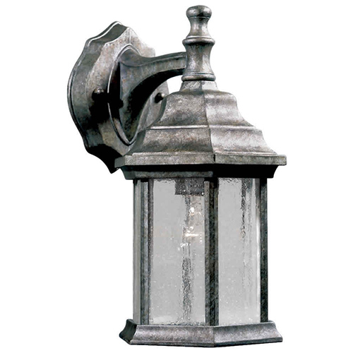 River Rock One-Light 6.5-Inch Wide Cast Aluminum Outdoor Wall Sconce