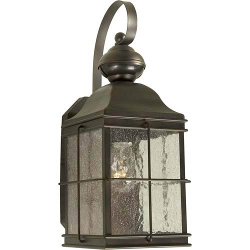 Series 435 Motion Sensor Antique Bronze One-Light Outdoor Wall Light with Photocell
