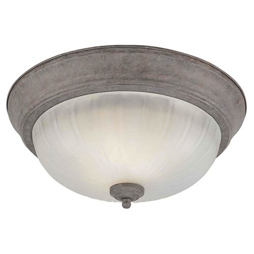 Desert Stone Two-Light Fluorescent Flush Mount