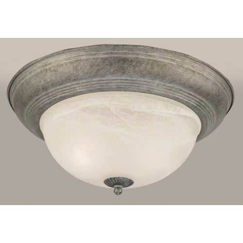 River Rock Fluorescent Flush Mount Ceiling Light