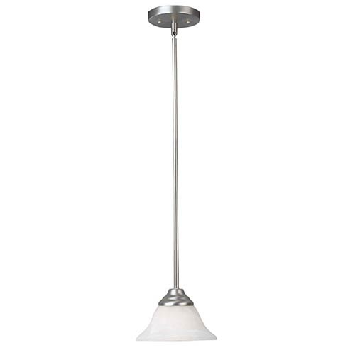Brushed Nickel One-Light 7.25-Inch Wide Mini-Pendant