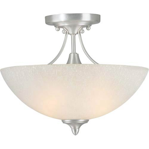 Series 419 Brushed Nickel Two-Light Semi-Flush
