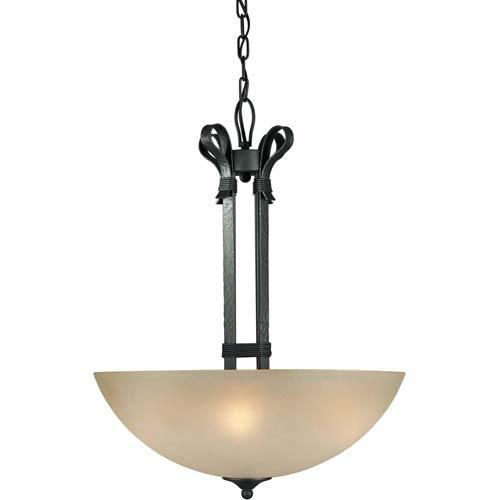 Series 462 Natural Iron Four-Light Bowl Pendant