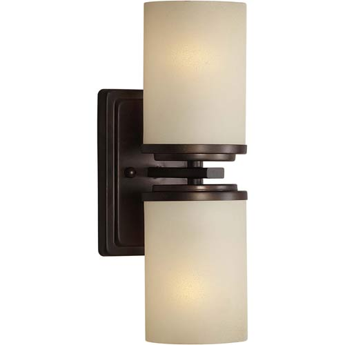 Series 241 Antique Bronze Two-Light Sconce