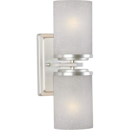 Forte Lighting Series 241 Brushed Nickel Two-Light Sconce