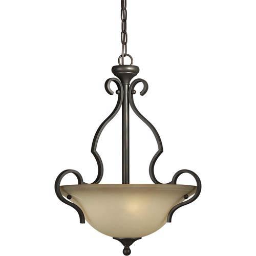 Series 459 Antique Bronze Three-Light Bowl Pendant