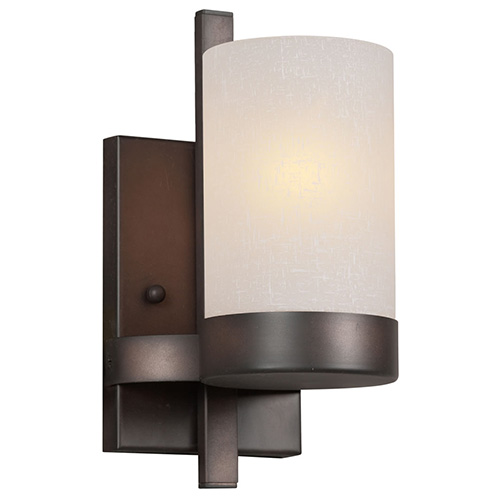 Antique Bronze One-Light 4.5-Inch Wide Wall Sconce