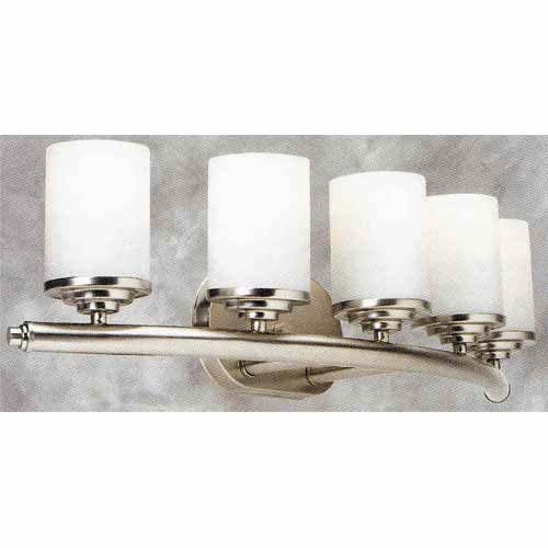 Forte Lighting Brushed Nickel Five-Light Bath Fixture