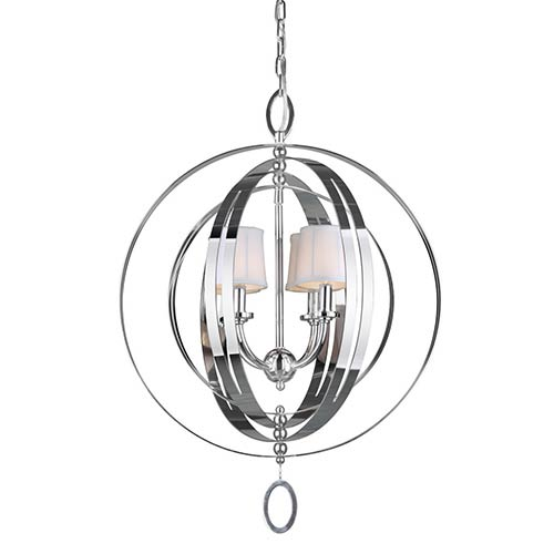 Forte Lighting Chrome Four-Light 21.5-Inch Wide Globe Pendant