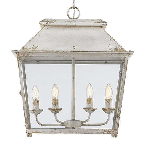 Abingdon Antique Ivory Four-Light Pendant