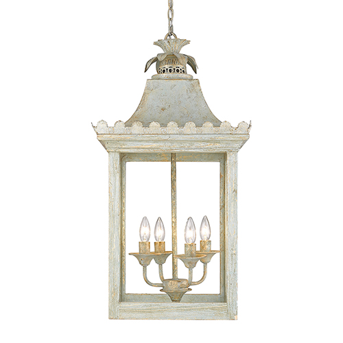 Finley Vintage Sage Four-Light Pendant