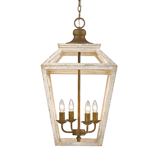 Haiden Burnished Chestnut Four-Light Pendant