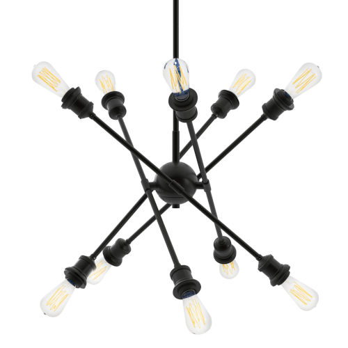 Axel Matte Black Five-Inch 10-Light Mini Chandelier