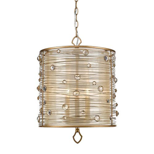 Joia Peruvian Gold Three-Light Pendant