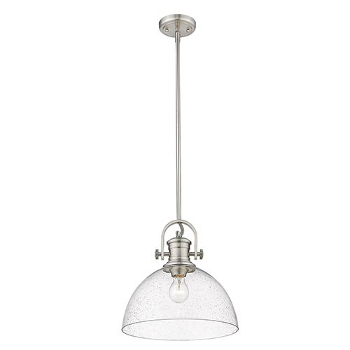 Hines Pewter 13-Inch One-Light Pendant