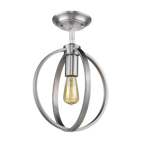 Colson Pewter 10-Inch One-Light Semi Flush Mount