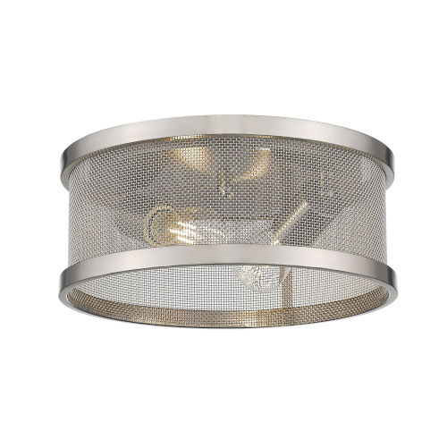Channing Pewter Two-Light Flush Mount