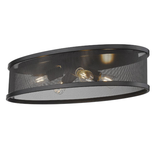 Channing Matte Black Four-Light Flush Mount