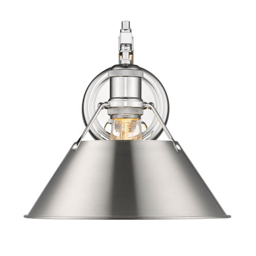 Orwell Chrome 10-Inch One-Light Wall Sconce with Pewter Shade