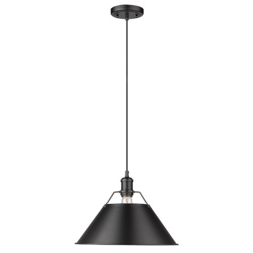 Orwell Matte Black 14-Inch One-Light Pendant