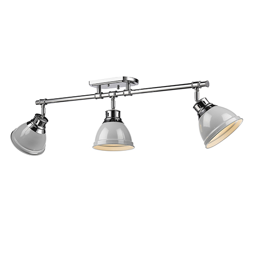 Duncan Chrome 35-Inch Three-Light Track Light