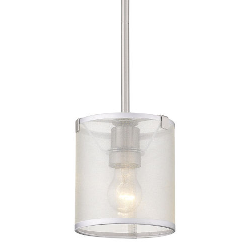 Alyssa Pewter One-Light Mini Pendant