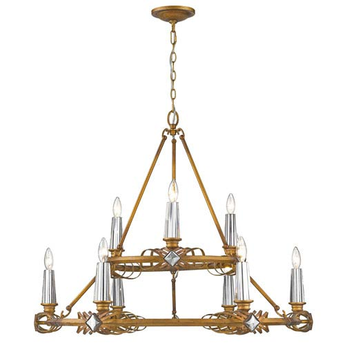 Golden Lighting Signet Royal Gold Nine-Light Chandelier