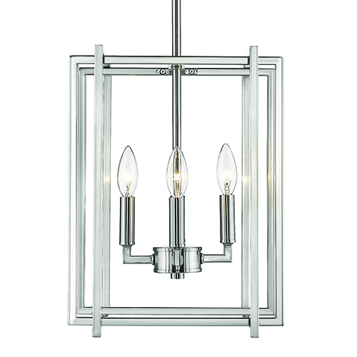 Tribeca Pewter 12-Inch Four-Light Mini Chandelier