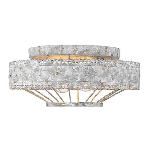 Ferris Oyster Two-Light Flush Mount