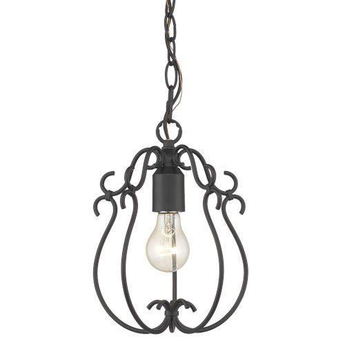 Suzette Natural Black One-Light Mini Pendant