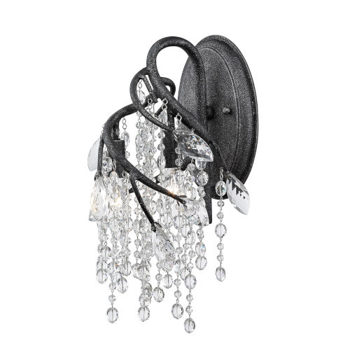 Autumn Twilight Black Iron Eight-Inch Three-Light Wall Sconce