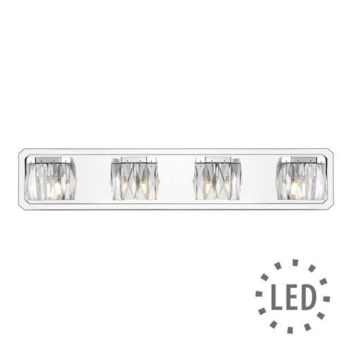 Golden Lighting Krysta Chrome Four-Light LED Bath Vanity