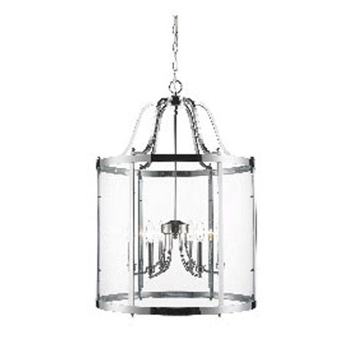 Golden Lighting Payton Chrome Six-Light Pendant with Clear Glass