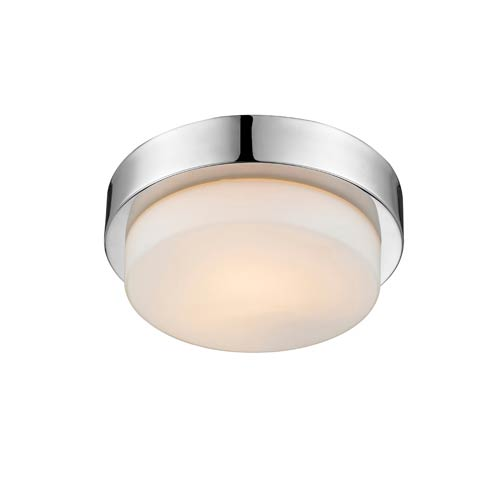 Golden Lighting Multi-Family Chrome One Light Flush Mount