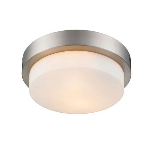 Multi-Family Pewter Two-Light Flush Mount