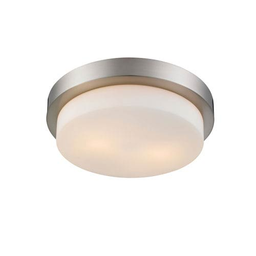 Multi-Family Pewter 13-Inch Two Light Flush Mount