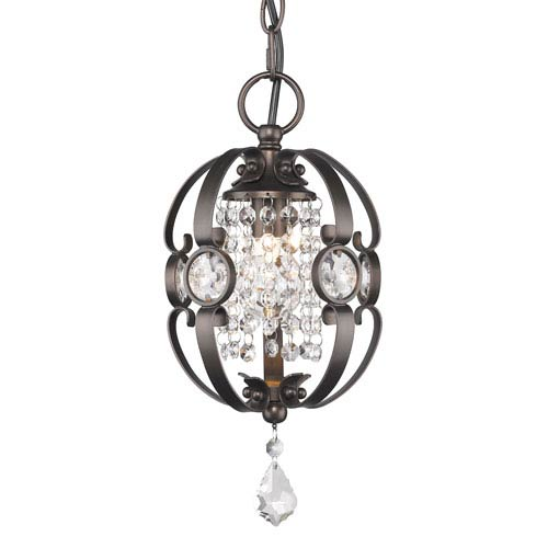 Ella Brushed Etruscan Bronze One-Light Mini Pendant