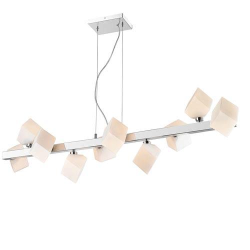 Iberlamp by Golden Volga Chrome Ten-Light Pendant