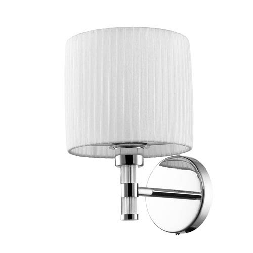 Solal Chrome and White One-Light Wall Sconce