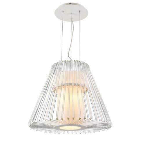 Iberlamp by Golden Delhi Chrome Ten-Light Pendant with Inner Glass and Large Drum Shade