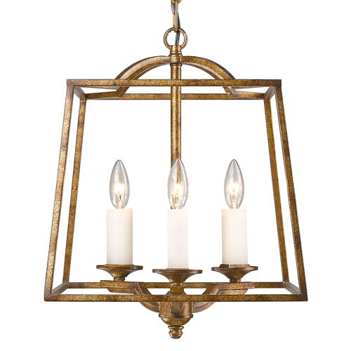 Athena Grecian Gold Three-Light Foyer Pendant