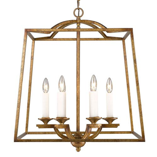 Athena Grecian Gold Six-Light Foyer Pendant