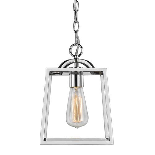 reputable site 5d238 c572b Athena Chrome One-Light Mini Pendant