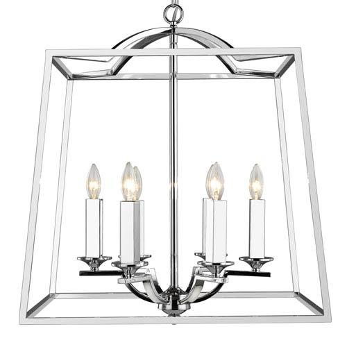Athena Chrome Six-Light Pendant