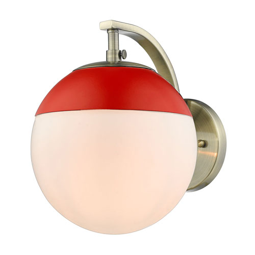 Golden Lighting Dixon Aged Brass One-Light Bath Sconce