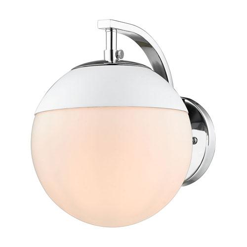 Golden Lighting Dixon Chrome One-Light Bath Sconce