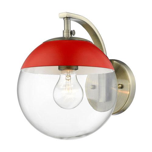 Golden Lighting Dixon Aged Brass One-Light Bath Sconce