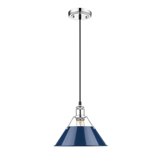 Golden Lighting Orwell Chrome One-Light Pendant