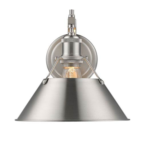 Golden Lighting Orwell Pewter One-Light Wall Sconce with Pewter Shade  sc 1 st  Bellacor & Golden Lighting Orwell Pewter One Light Wall Sconce With Pewter ...